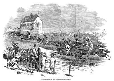 England Newmarket, 1845 Art Print
