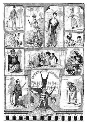 England Pantomime, 1883 Art Print