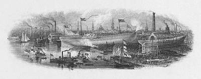 Shipyard Painting - England Shipyard, C1850 by Granger