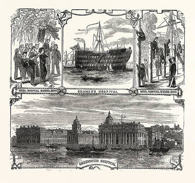 Englands Refuge For The Defenders Of Her Wooden Walls Art Print by English School
