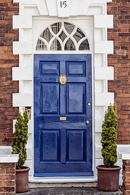 Fifteen Photograph - English Blue Door  by Georgia Fowler