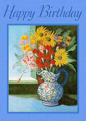 Painting - English Bouquet Card by Ruth Soller