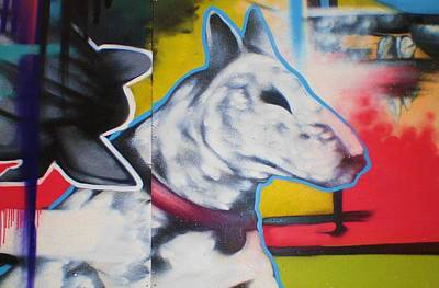 Bull Terrier Mixed Media - English Bull Terrier by Leon Keay