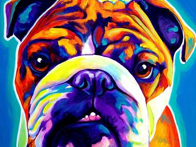 Dawgart Painting - Bulldog - Bond by Alicia VanNoy Call