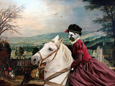 Painting - English Bulldog Art Canvas Print - Fete De Village by Sandra Sij