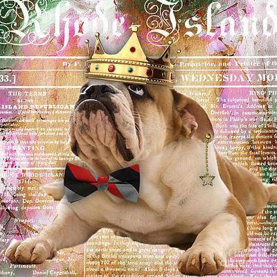 Bulldog Mixed Media - English Bulldog Bowtie Collection by Marvin Blaine