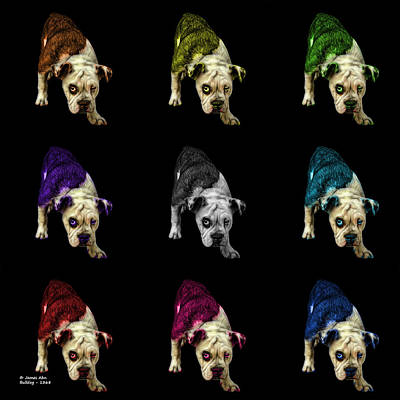 Painting - English Bulldog Dog Art - 1368 - Bb - M by James Ahn
