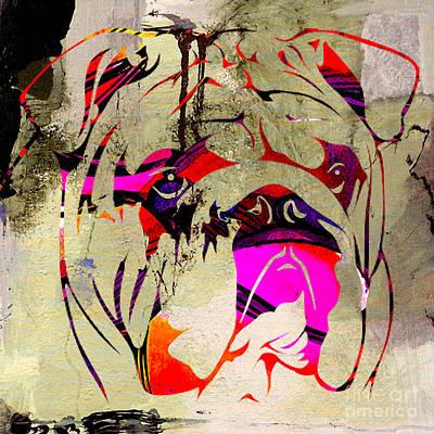 English Mixed Media - English Bulldog by Marvin Blaine