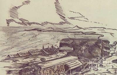 Ww Ii Drawing - English Channel Ww II by David Neace