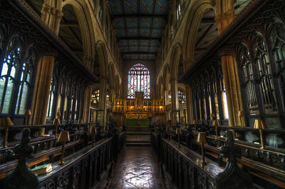Holy Digital Art - English Church by Nathan Wright