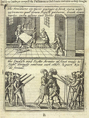 English Civil War Scenes Art Print by British Library