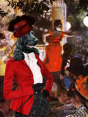 Cocker Spaniel Painting - English Cocker Spaniel Art Canvas Print by Sandra Sij