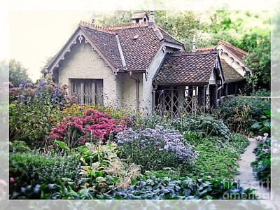 Annual Photograph - English Cottage Garden by Edward Fielding