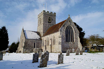 Photograph - English Country Church In Winter by John Colley