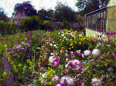 Photograph - English Country Cottage Flower Garden by Kurt Van Wagner