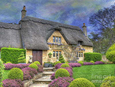English Country Cottage Art Print