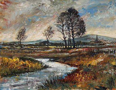English Country Landscape Original