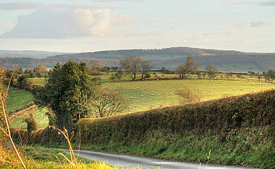 Photograph - English Countryside In Early Winter by Sarah Broadmeadow-Thomas