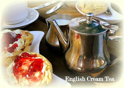 Photograph - English Cream Tea by Carla Parris