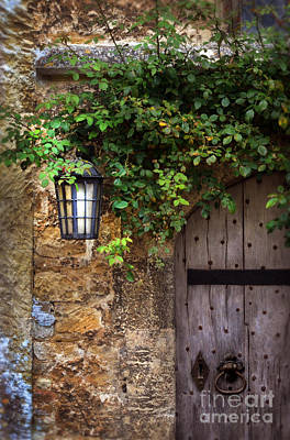 Charming Cottage Photograph - English Door by Jill Battaglia