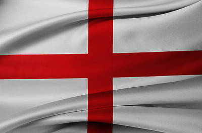 Waving Flag Photograph - English Flag by Les Cunliffe