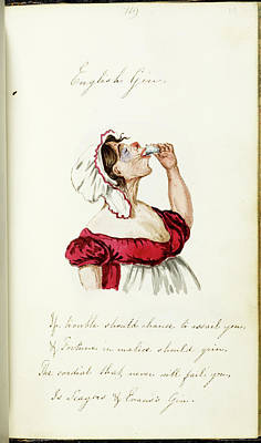 Watercolour Photograph - English Gin by British Library