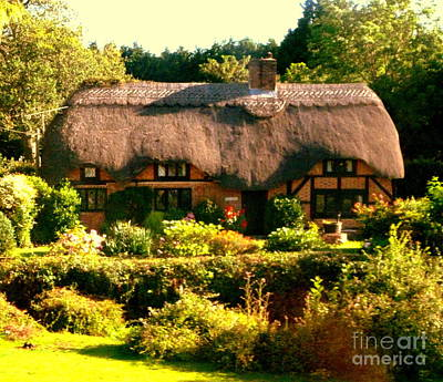 Photograph - English Home by John Potts