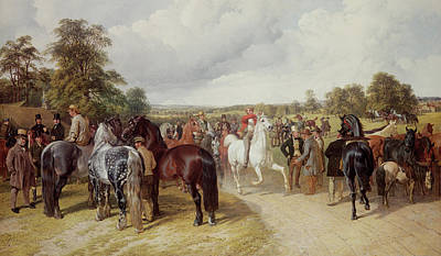 Country Fair Painting - English Horse Fair On Southborough Common by John Frederick Herring Snr
