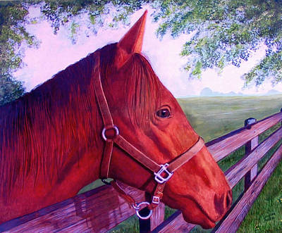 Mixed Media - English Horse by Lorraine Foster