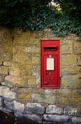 Photograph - English Letter Box In A Stone Wall by Jill Battaglia