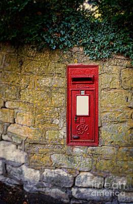 Photograph - English Letter Box In A Stone Wall by Jill Battaglia
