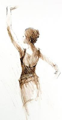 English National Ballet Student Art Print by Jackie Simmonds