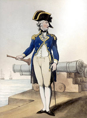 Painting - English Naval Captain, 1799 by Granger