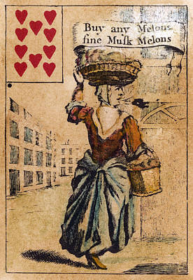 1754 Painting - English Playing Card, C1754 by Granger