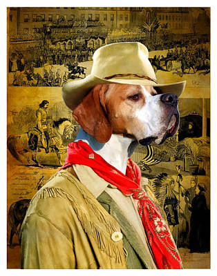 Painting - English Pointer Art Canvas Print by Sandra Sij