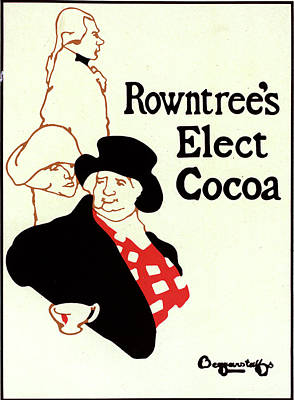 Hot Artist Drawing - English Poster For Rowntrees Elect Cocoa by Liszt Collection