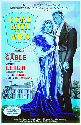 English Poster Of Gone With The Wind Art Print by Art Cinema Gallery
