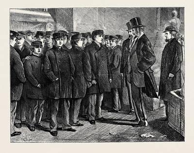 English Refuge Boys In New York, 1870 Art Print by American School