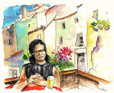 Glass Drawing - English Rocker In Castelo De Vide In Portugal by Miki De Goodaboom