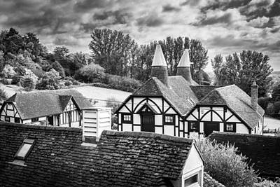 Art Print featuring the photograph English Rooftops. by Gary Gillette