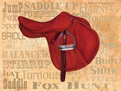 Painting - English Saddle - Tea Stained by Sher Sester