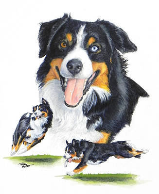 Painting - English Shepherd by Terry Albert