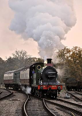 Photograph - English Steam Train by Matt MacMillan
