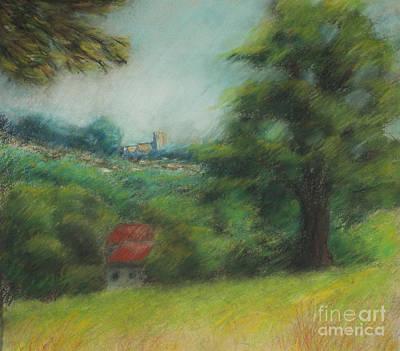 English Summer Landscape  Print by Ewa Hearfield