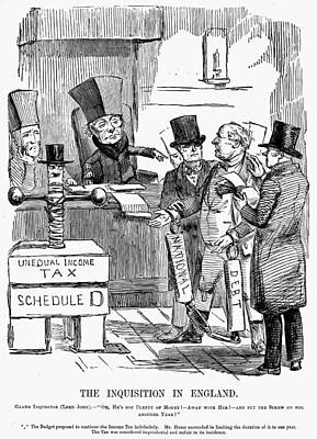Painting - English Tax Cartoon, 1851 by Granger