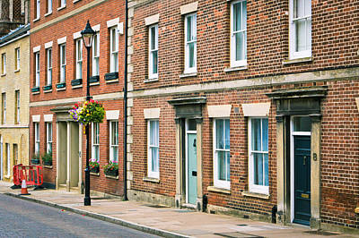 Brick Building Photograph - English Town Houses by Tom Gowanlock
