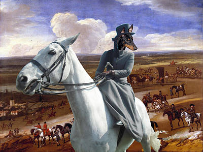 Painting - English Toy Terrier Art Canvas Print - The Warren Hill At Newmarket by Sandra Sij
