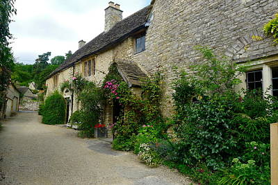 Photograph - English Village Side Street by Denise Mazzocco