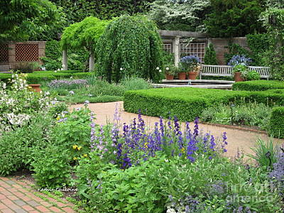 Photograph - English Walled Garden by Kathie Chicoine