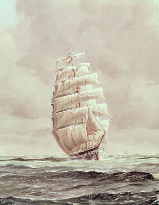 Pirate Ship Painting - English Wool Clipper by Anonymous